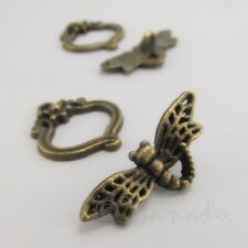 Dragonfly Toggle Clasps 29mm Antiqued Bronze Findings F5004 - 5, 10 Or 20 Sets