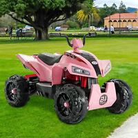 12V Kids Ride On ATV Car Quad 4 Wheels Electric Toy W/ Led Lights,2 Speed,Sounds