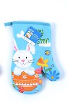Easter Printed Oven Mitts~ Bunny Design~Multicolored