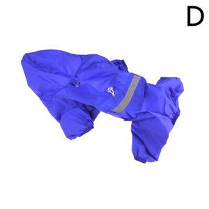 Pet Dog Waterproof Hooded Raincoat Cat Rain Coat Jacket Puppy Clothes Costume CA
