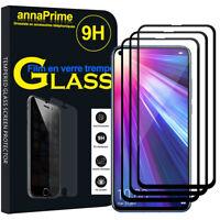 """3 Vitre Film Verre Trempe Protecteur d'écran NOIR Huawei Honor View 20 6.4"""""""