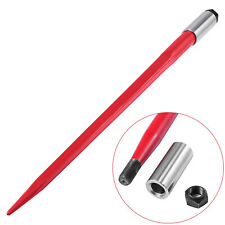 """43"""" 3000 lbs Capacity Square Hay Bale Spear Spike Fork Red Tach Bobcat"""