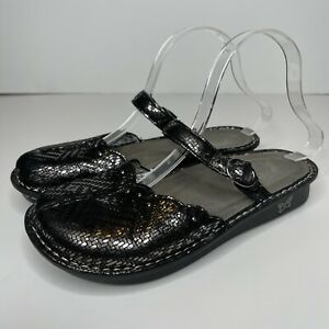 ALEGRIA Pewter Silver Dazzler Tuscany Mule Clogs 38