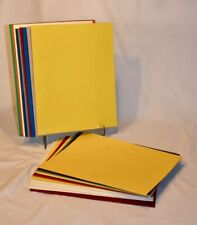 12 Pocket Portfolios Heavy Paper 2 Pocket Yellow Blue Green Red Colors New/Used