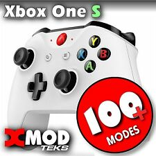 XBOX ONE S MODDED CONTROLLER, ORIGINAL WHITE, PRO MOD RAPID FIRE,  XMOD 100 MODE