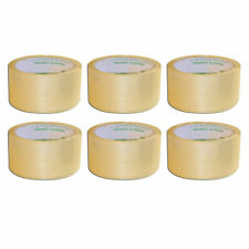 6 Rolls Carton Sealing Clear Packing Tape Box Shipping 2 X 55 Yards Heavy Duty