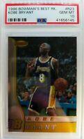 1996 96-97 BOWMANS BEST Kobe Bryant ROOKIE RC #R23, Graded PSA 10 Gem Mint