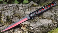 MTech Ballistic TIPS Stiletto Messer einseitig geschliffen BLOODRED MTA317RD