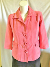 Northern Reflections Womens Sz.Med Shirt Jacket Pink 3/4 Sleeve Pockets