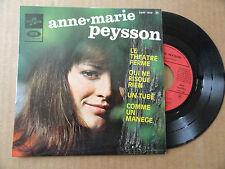 """DISQUE 45T AVEC LANGUETTE  DE  ANNE MARIE PEYSSON  """"  LE THEATRE FERME  """""""