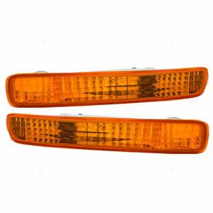 FITS FOR 1996 1997 HONDA ACCORD FRONT BUMPER SIGNAL LAMP RIGHT & LEFT SET