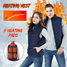 Men/Women Electric USB Heated Vest Coat Jacket Warm Up Heating Pad Warmer Cloth