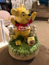 Vintage WINNIE THE POOH Music Box JAPAN Walt Disney Works Ceramic
