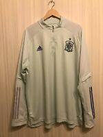 Spain 2020/2021 Trainng top Sz 2XL Adidas jersey shirt football soccer sweat XXL