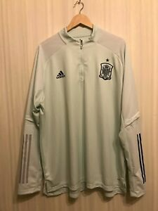 Spain 2020/2021 Trainng top Sz 2XL Adidas jersey shirt football soccer sweat XXL