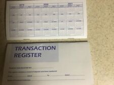 1 CHECKBOOK TRANSACTION REGISTER CALENDAR 2019 2020 2021 CHECK BOOK REG