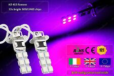 2x H3 453 LED Purple Pink HID Xenon Fog Bulbs DRL Lamps Running Lights Car 12v