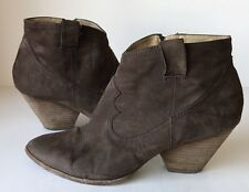 FRYE Reina Bootie Brown Suede Western Ankle Boots Size 9 M
