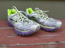 Women's Brooks Trance 12 Running Shoes Gray Lime Purple Size 8