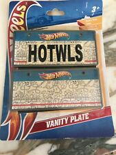 2011 Hot Wheels Vanity Bicycle License Plate Set Make Your Own With Stickers