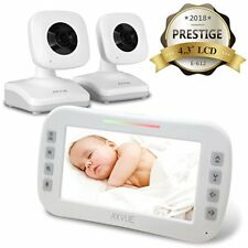 "Axvue E612 Video Baby Monitor, 4.3"" LCD Screen and 2 Camera, OPEN BOX"