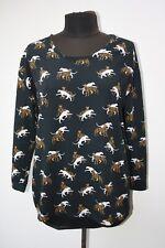 Bimba Y Lola Tiger Print Top Size L UK 14