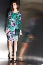Escada Hyacinth Sheath Round Neckline,Long Sleeve Dress SIZE 38 (8 US) $ 1350