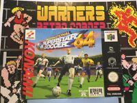 Nintendo N64 64 International Superstar Soccer Cib Boxed W/ Manual No Inner Tray