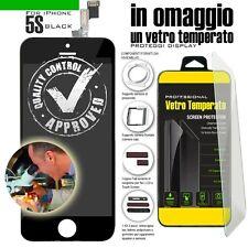TOUCH SCREEN PER IPHONE 5S NERO VETRO DISPLAY SCHERMO LCD RETINA ASSEMBLATO