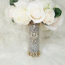 Bling Crystal Bouquet Holder Crystal Rhinestones Wedding Bouquet Holder 6 x 1.5""