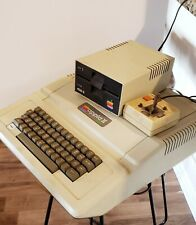 Vintage Apple Computer w Disk Drive TESTED Apple 2 PLUS Apple Disk 2 II Boots Up