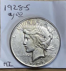 1928-S San Francisco Mint Silver Peace Dollar