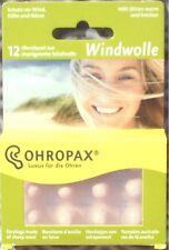 Ohropax windwolle protège-oreilles 12ST Bouchons vent pour l'épilation oreilles