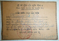 Rvn Navy - 1970 Certificate - Issued Navy Hq District Iv - Vietnam War - 9454