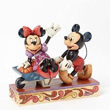 """Jim Shore Disney Mickey & Minnie """"Picking Pumpkins""""~4039067~Brand New In Box~***"""