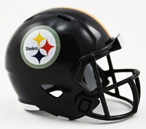 "Pittsburgh Steelers 2"" Pocket Pro Micro Mini Speed Helmet Riddell NFL NWT"