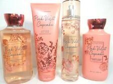 Bath Body Works Pink Velvet Cupcake gel wash lotion cream & fragrance spray mist