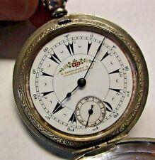 Zenith Billodes K. Serkisoff OTTOMAN EMPIRE Pocket Watch Sterling GOOD DIAL 1858