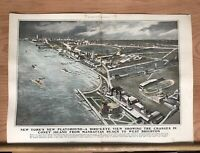 1905 H. M. PETTIT THE CHANGES IN CONEY ISLAND HARPER'S WEEKLY HAND COLORED PRINT