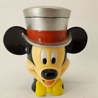 Vintage Disney on Ice Mickey Mouse Mug Silver Flip Top Hat Lid Cup 1998