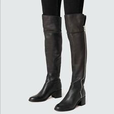 Dolce Vita Dorian Leather Zip Over Knee Boots Zip Size 9.5