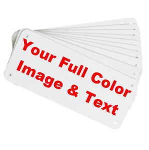 Personalized Sign Aluminum Full Color Logo Image Name Text Custom Christmas