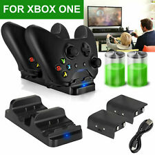 2 USB Rechargeable + for Dual Controller Dock Microsoft Battery Charger XBOX ONE
