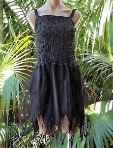 Halloween Black Witch Fairy Dress Fantasy Costume - SIZE Child 10-12