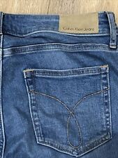 Calvin Klein Jeans Leggings W28 L29 Mid Blue