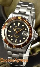 "Brand New Squale Y1545 20 Atmos ""Heritage"" Brown Black Watch Warranty Swiss Made"