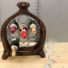 NANDA 9 Griglia per bottiglie di vino Jali Ironwork LEGNO MANGO cucina pranzo