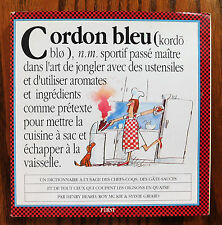 Cordon bleu Funny cookery book cook's dictionary in FRENCH cartoon humour