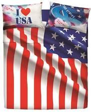 Completo Lenzuola Matrimoniale USA Flag Stati Uniti America Natura City Bassetti