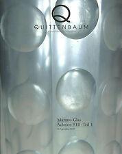 QUITTENBAUM Murano Glass Barbini Barovier Bianconi Scarpa Venini Seguso Catalog